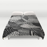 Black and White  Duvet Cover by Urban Exclaim