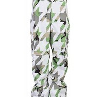 Burton Cargo Snowboard Pants Bright White Hounds - Mens