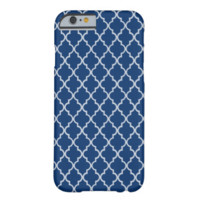 Sodalite Blue And White Moroccan Trellis Pattern iPhone 6 Case