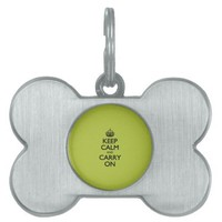 Acid Keep Calm And Carry On Pet Name Tag