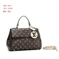 LV Louis Vuitton Women Fashion Leather Satchel Tote Shoulder Bag Handbag size:25*18