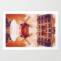 Moullin Rouge Art Print by arvanneco