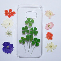 pressed flower note 5 case, Clear Samsung Galaxy note 3 Case, Samsung Galaxy note 4 Case, Galaxy note 5 flower, floral samsung galaxy case