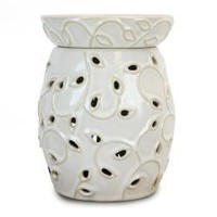 Tall Wax Warmer In Ivory White