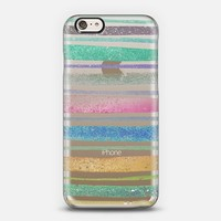 Abstract Pastel Pink Turquoise Brush Stripes Paint iPhone 6 case by Girly Road   Casetify