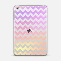 Fruity Cotton Candy Chevron Transparent iPad Mini 1/2/3 case by Organic Saturation   Casetify