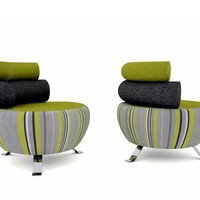Upholstered armchair Bobby Collection by Twin Design