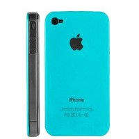 Light Blue Replicase Hard Crystal Air Jacket Case for AT&T iPhone 4 4G 16GB 32GB GSM