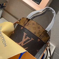 LV vintage old flower women bucket bag shoulder bag