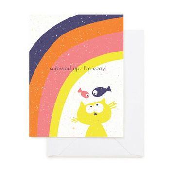 CAT SORRY GREETING CARD