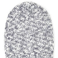 Marled Open-Knit Beanie