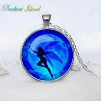 FAIRY PENDANT fairy Necklace Fairy jewelry Gift Fantasy Gift for Him Gift for Her gift for women Blue turquoise aqua