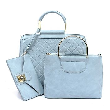 NEW Quilted Boxy 3-in-1 Satchel