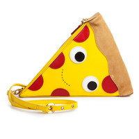 Leather Pizza Clutch