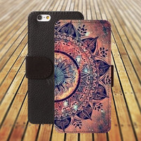 Nebula mandala ball iphone 5/ 5s iphone 4/ 4s iPhone 6 6 Plus iphone 5C Wallet Case , iPhone 5 Case, Cover, Cases colorful pattern L015