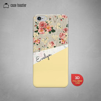 Floral iPhone 6 Case iPhone 5S Case Wood Print Case Geometric iPhone 5 Case Yellow iPhone 5C Case Personalized iphone Case iPhone 4S Case