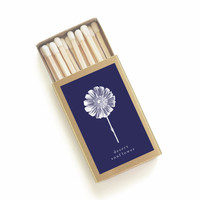 Desert Sunflower Botanical Matchbox - Pretty Matches - Desert Home Decor - Bridesmaid Gift - Wedding Matchbox Favor - Light a Summer Spark