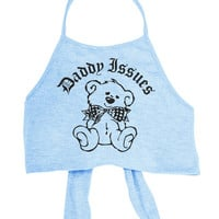 Daddy Issues Blue Halter