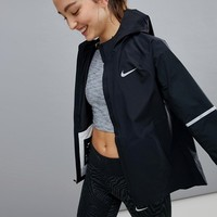 Nike Running Aeroshield Jacket In Black at asos.com