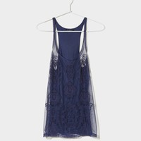 AE Embroidered Mesh Cami | American Eagle Outfitters