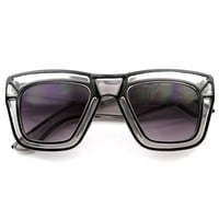 Designer Inspired Fashion Large Bold Translucent Horn Rimmed Style Sunglasses