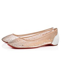Cl Christian Louboutin Patinotte Flat Version Crystal Strass 18s Bridal 1180371sv57