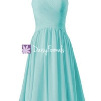 Elegant Robin Egg blue Party Dress Cocktail Dress Beach Wedding Dress (BM800)