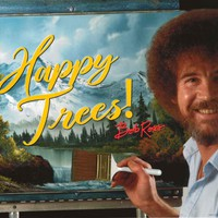 Bob Ross Happy Trees Poster 22x34