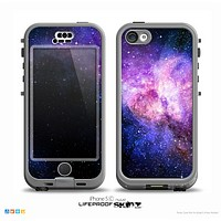 The Vibrant Purple and Blue Nebula Skin for the iPhone 5c nüüd LifeProof Case