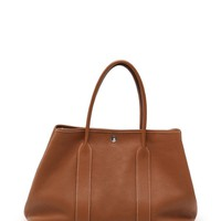 HERMES Garden Party PM tote bag Negonda gold all-leather P engraved