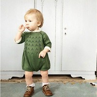 Bodysuit For Baby Girls Kids Jumpsuit Baby Clothing Girl Spring Sweater Toddler Knitted Pullover Clothes roupas infantis menina