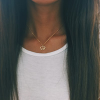 Gold Plated Ella Outline Necklace
