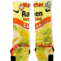 Chicken Ramen Noodles Custom Nike Elite Socks