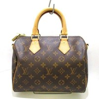 Auth LOUIS VUITTON Speedy Bandouliere 25 M40390 Monogram Handbag DU1151