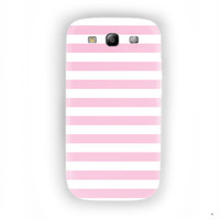 Light Pink Stripes Walls Design For Samsung Galaxy S3 Case
