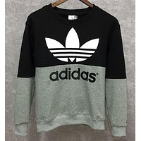 Adidas male sport sweater plus velvet sleeve head size sweater T-shirt thickening