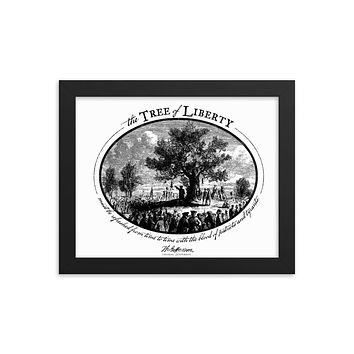 Tree of Liberty Framed Print