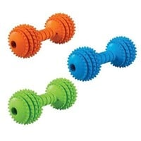 JW Chompion Dumbbell Dog & Puppy Chew Toy Lightweight