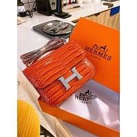 Fashion Hermes Women Leather monnogam Handbag Crossbody bags Shouldbag Bumbag