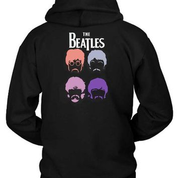 CREYH9S The Beatles Cartoon Second Hoodie Two Sided