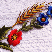Iron On Patch Applique - Meadow Flower Spray
