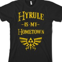 Hyrule Is My Hometown-Unisex Black T-Shirt