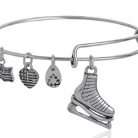 Alex and Ani skating shoes  charm bracelet,a perfect gift !