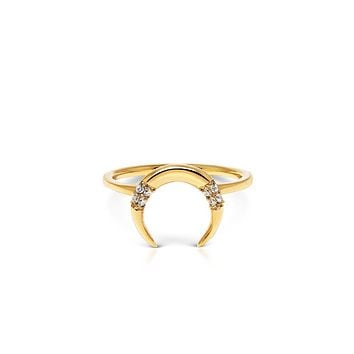 Skyfall Tiger Tooth Ring in Gold