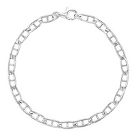 925 Sterling Silver Classic Chain Link Bracelet for Kids Girls Boys 6""