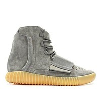 yeezy boost 750 High-Top Grey/Black/Brown Suede Sneakers