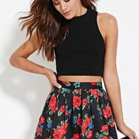 Quilted Floral Skirt