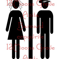 Wedding Restroom Printable - Bride and Groom