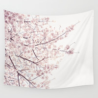 cherry blossom Wall Tapestry by Neon Wildlife