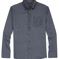 Vince Camuto Colorblock Woven Sportshirt - Blue/Navy